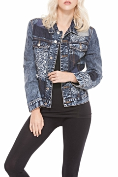 Adore Apparel Patched Denim Jacket - Alternate List Image