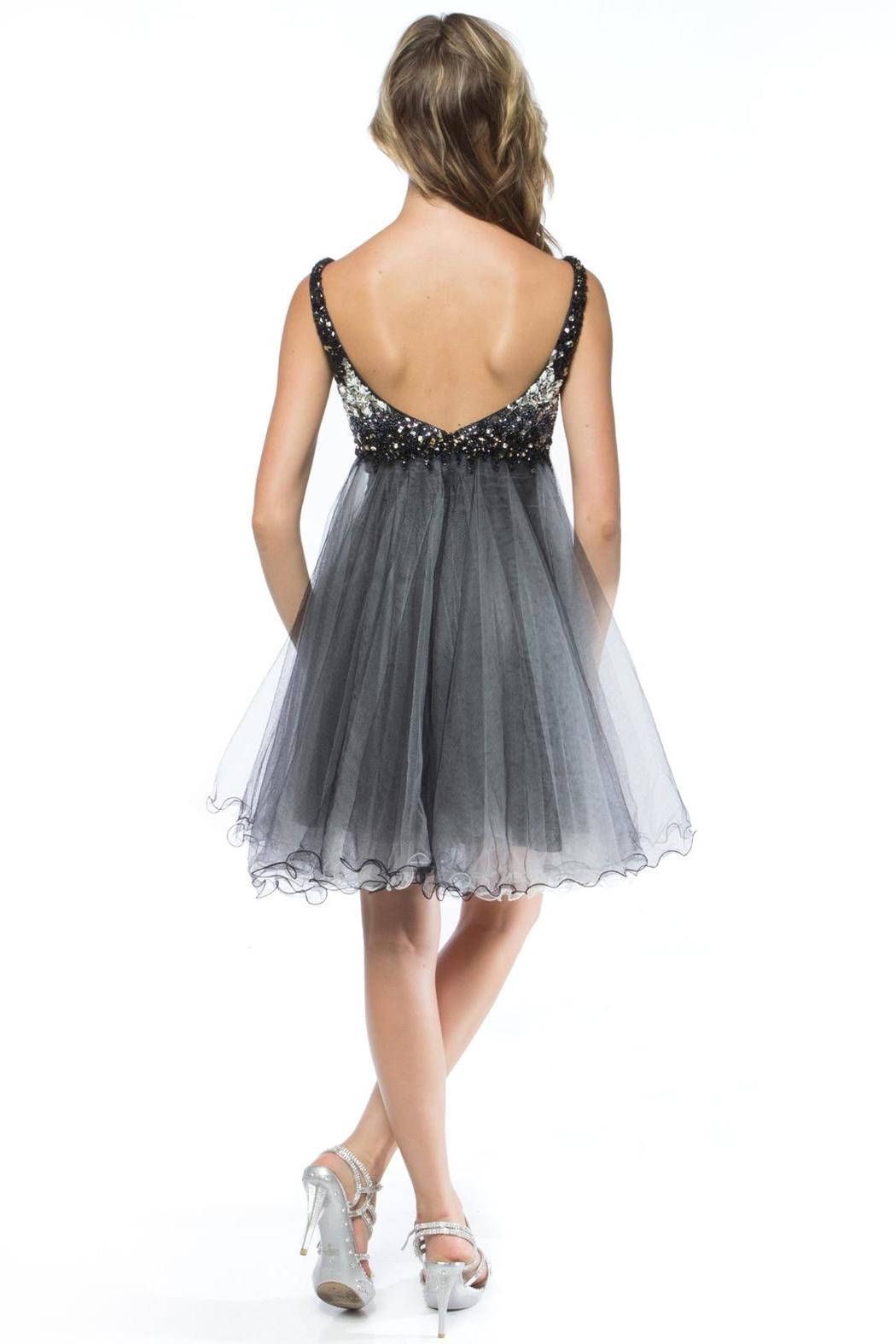Adore Clothes & More Beaded Formal Dress - Front Full Image