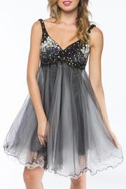 Adore Clothes & More Beaded Formal Dress - Front cropped
