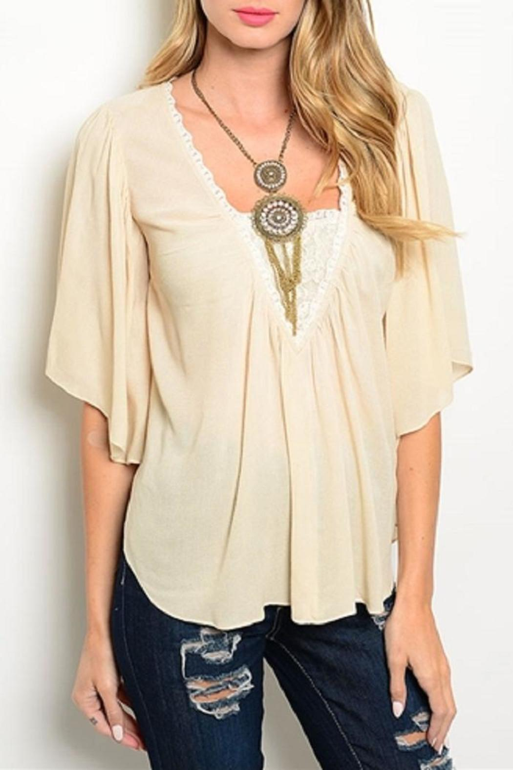 Adore Clothes & More Beige Top - Main Image