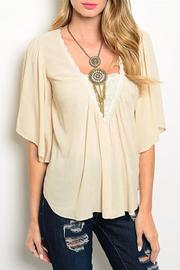 Adore Clothes & More Beige Top - Front cropped
