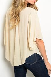Adore Clothes & More Beige Top - Front full body