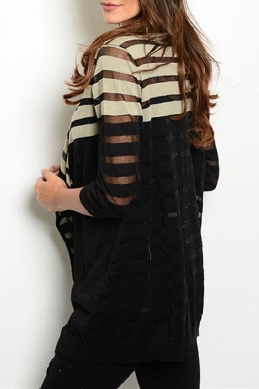 Adore Clothes & More Black Beige Sweater - Front Full Image