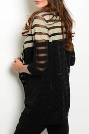 Adore Clothes & More Black Beige Sweater - Front full body
