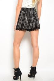 Adore Clothes & More Black Cream Shorts - Front full body