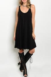 Adore Clothes & More Black Fringe Dress - Front cropped