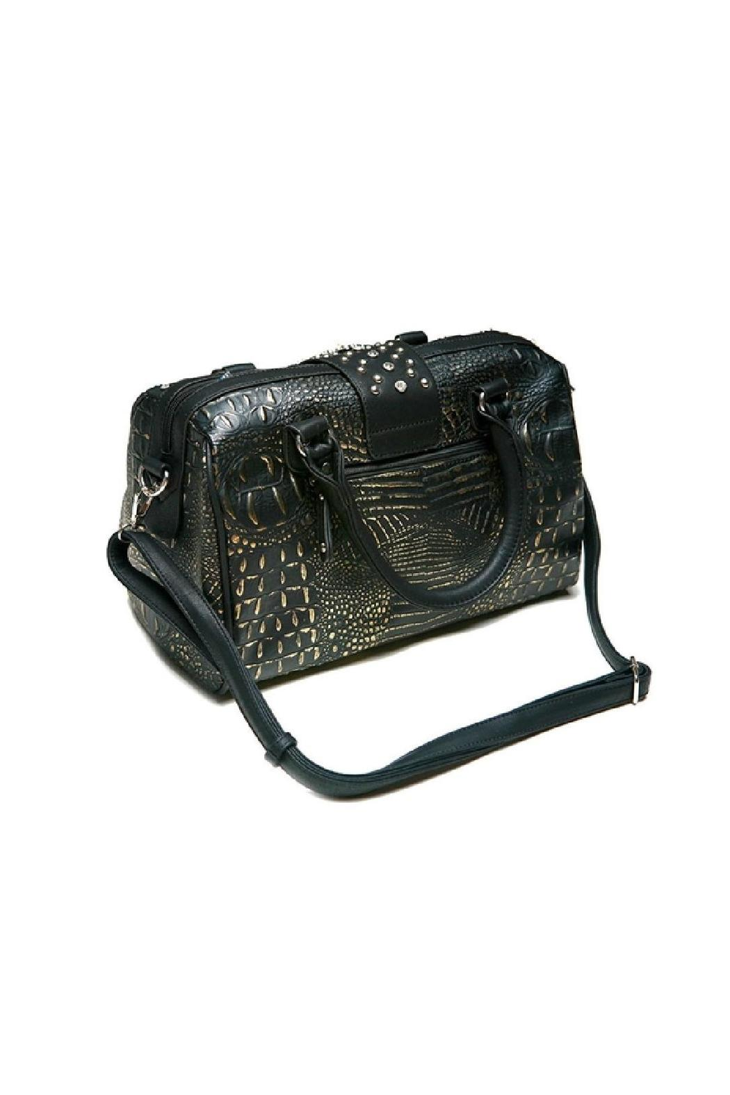 Adore Clothes & More Black Gold Purse - Front Full Image