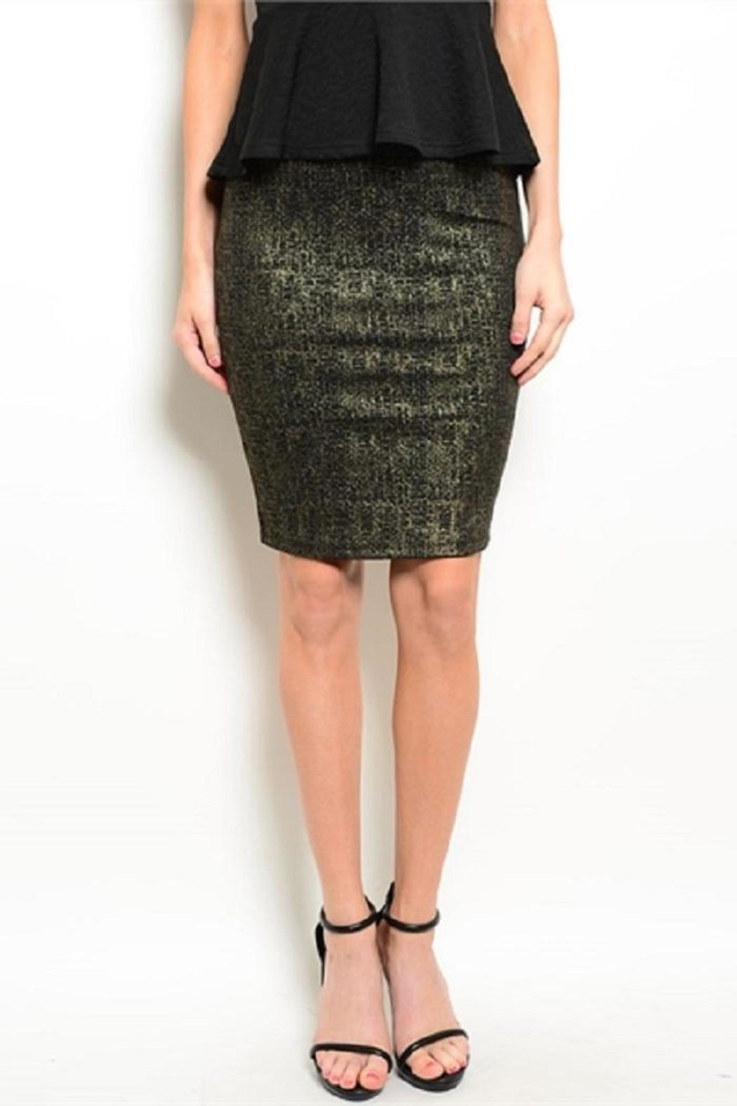 Adore Clothes & More Black Gold Skirt - Main Image