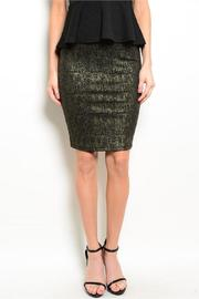 Adore Clothes & More Black Gold Skirt - Product Mini Image