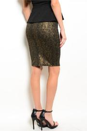Adore Clothes & More Black Gold Skirt - Front full body
