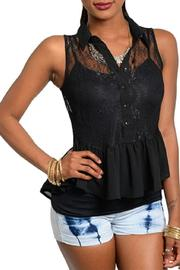 Adore Clothes & More Black Lace Top - Product Mini Image