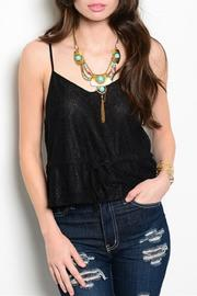 Adore Clothes & More Black Lace Top - Front cropped