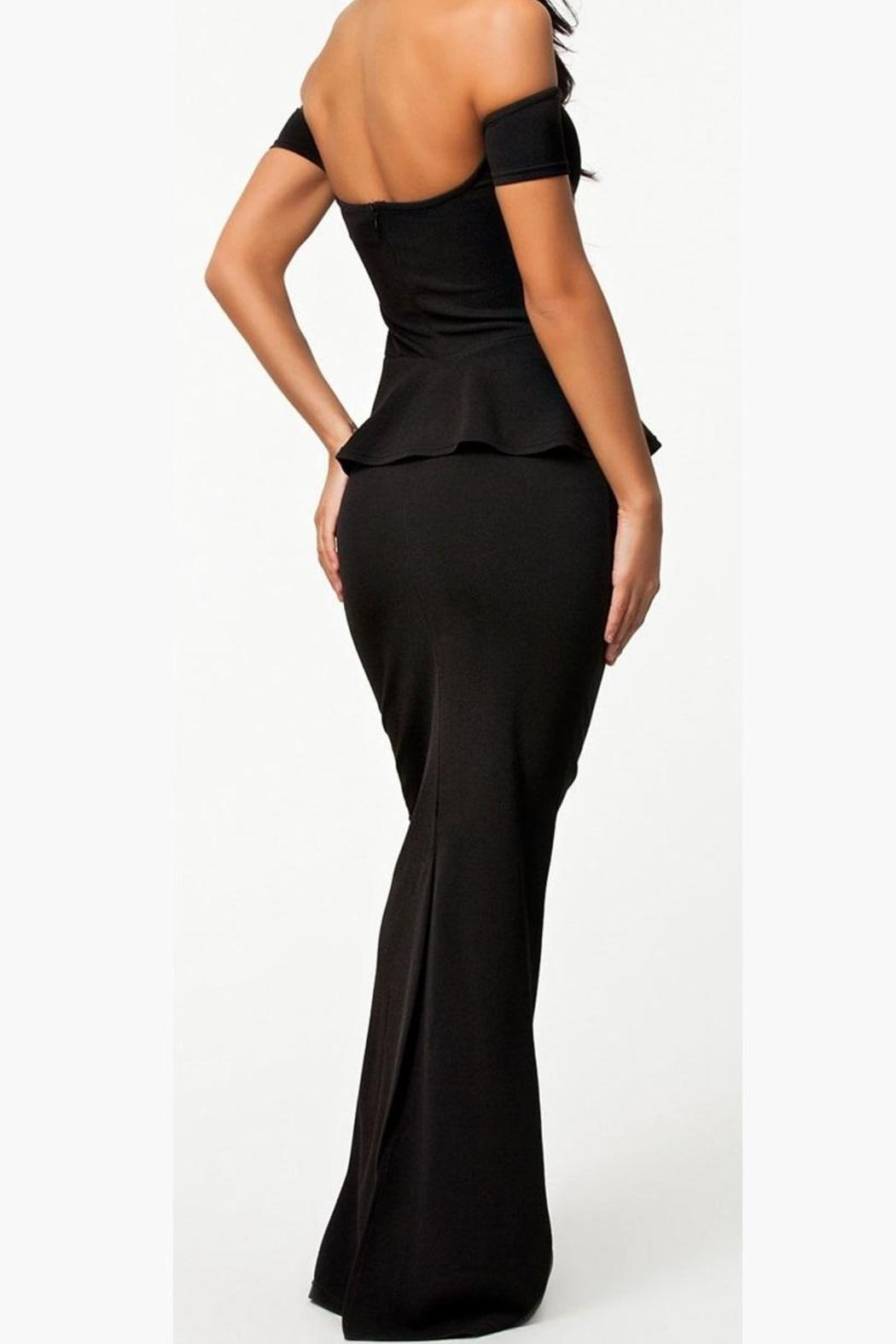 Adore Clothes & More Long Black Dress - Front Full Image