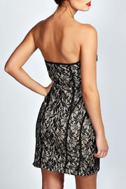 Adore Clothes & More Black Nude Dress - Front full body