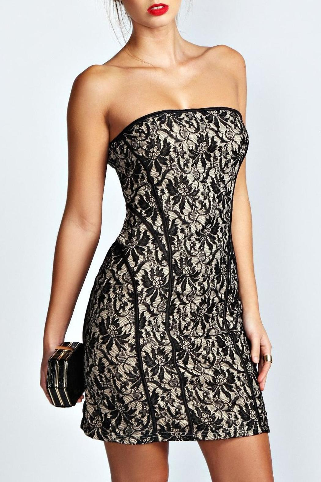 Adore Clothes & More Black Nude Dress - Main Image