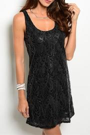 Adore Clothes & More Black Patterned Dress - Front cropped