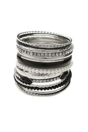 Adore Clothes & More Black Rhodium Bracelets - Product Mini Image