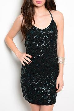 Shoptiques Product: Black Sequin Dress