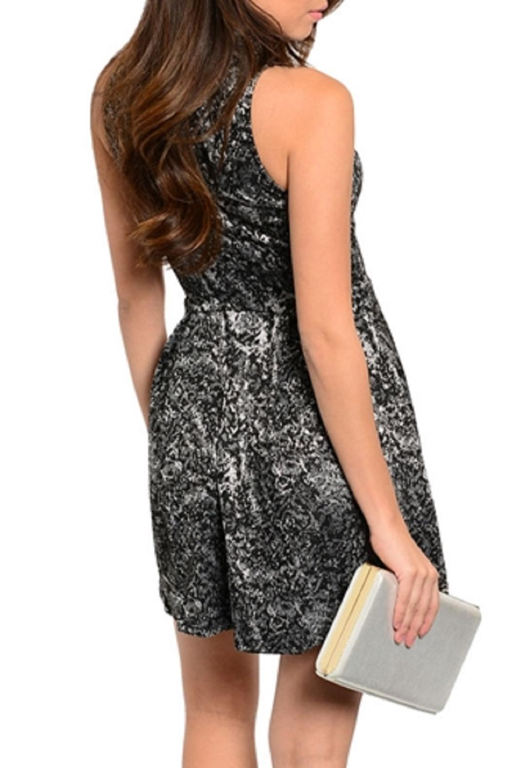 Adore Clothes & More Black Silver Dress - Front Full Image