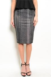 Adore Clothes & More Black Silver Skirt - Product Mini Image