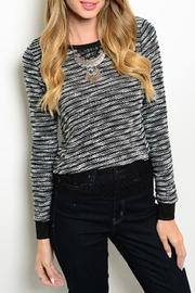 Adore Clothes & More Black Striped Sweater - Product Mini Image