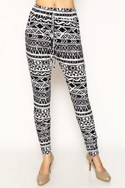 Adore Clothes & More Black White Joggers - Product Mini Image