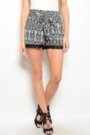 Adore Clothes & More Black White Shorts - Product Mini Image