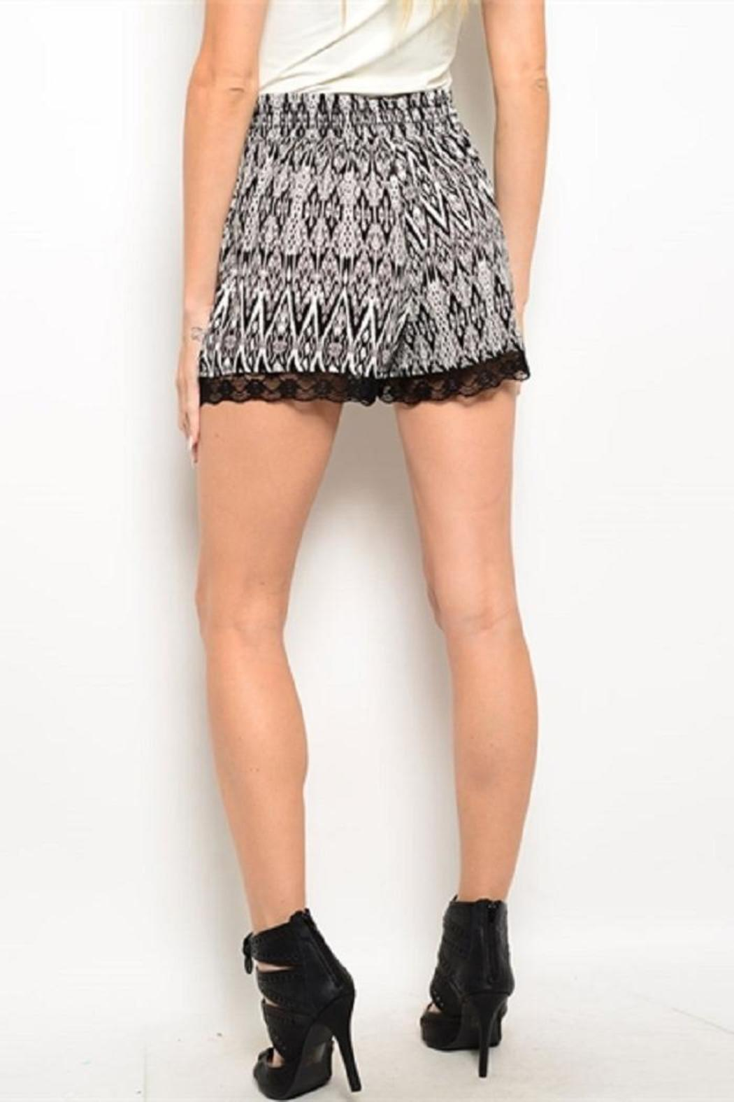 Adore Clothes & More Black White Shorts - Front Full Image