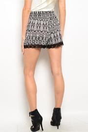Adore Clothes & More Black White Shorts - Front full body
