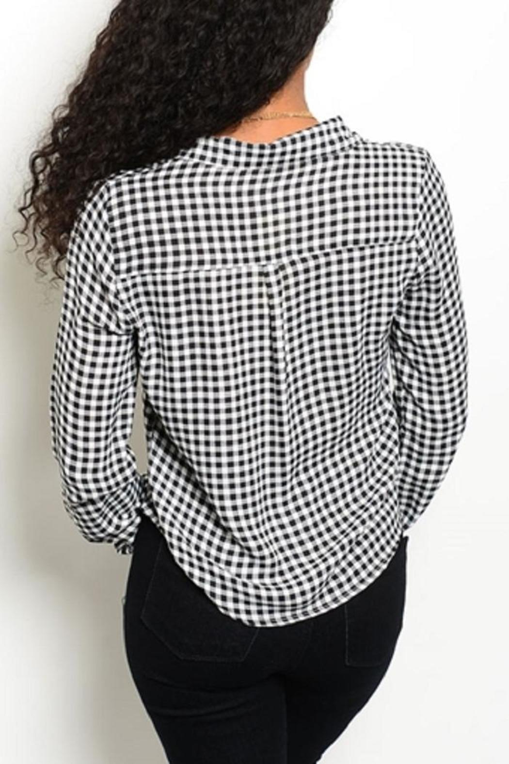 Adore Clothes & More Black White Top - Front Full Image