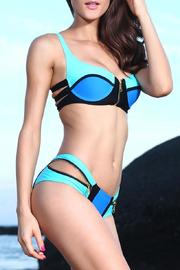 Adore Clothes & More Blue Turquoise Bikini - Front full body
