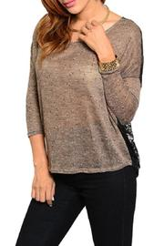 Adore Clothes & More Brown Black Sweater - Product Mini Image