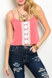Adore Clothes & More Coral Ivory Top - Product Mini Image