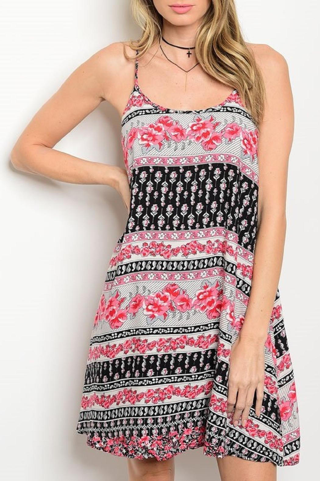 Adore Clothes & More Floral Summer Dress - Main Image