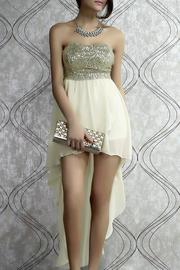 Adore Clothes & More Gold Sequin Dress - Product Mini Image