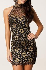 Adore Clothes & More Gold Black Dress - Product Mini Image