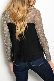 Adore Clothes & More Gold Black Sweater - Front full body