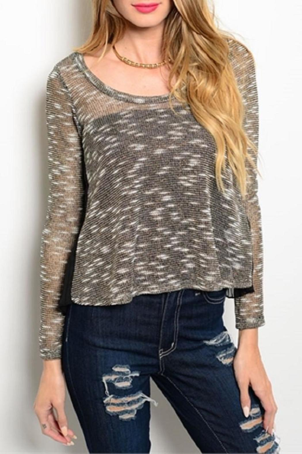 Adore Clothes & More Gold Black Sweater - Main Image