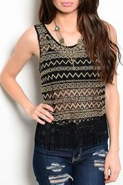 Adore Clothes & More Gold Tank Top - Front cropped