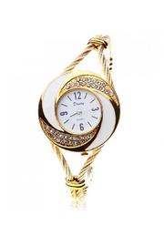 Adore Clothes & More Gold White Watch - Product Mini Image