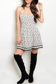 Adore Clothes & More Gray/black Paisley Dress - Front cropped