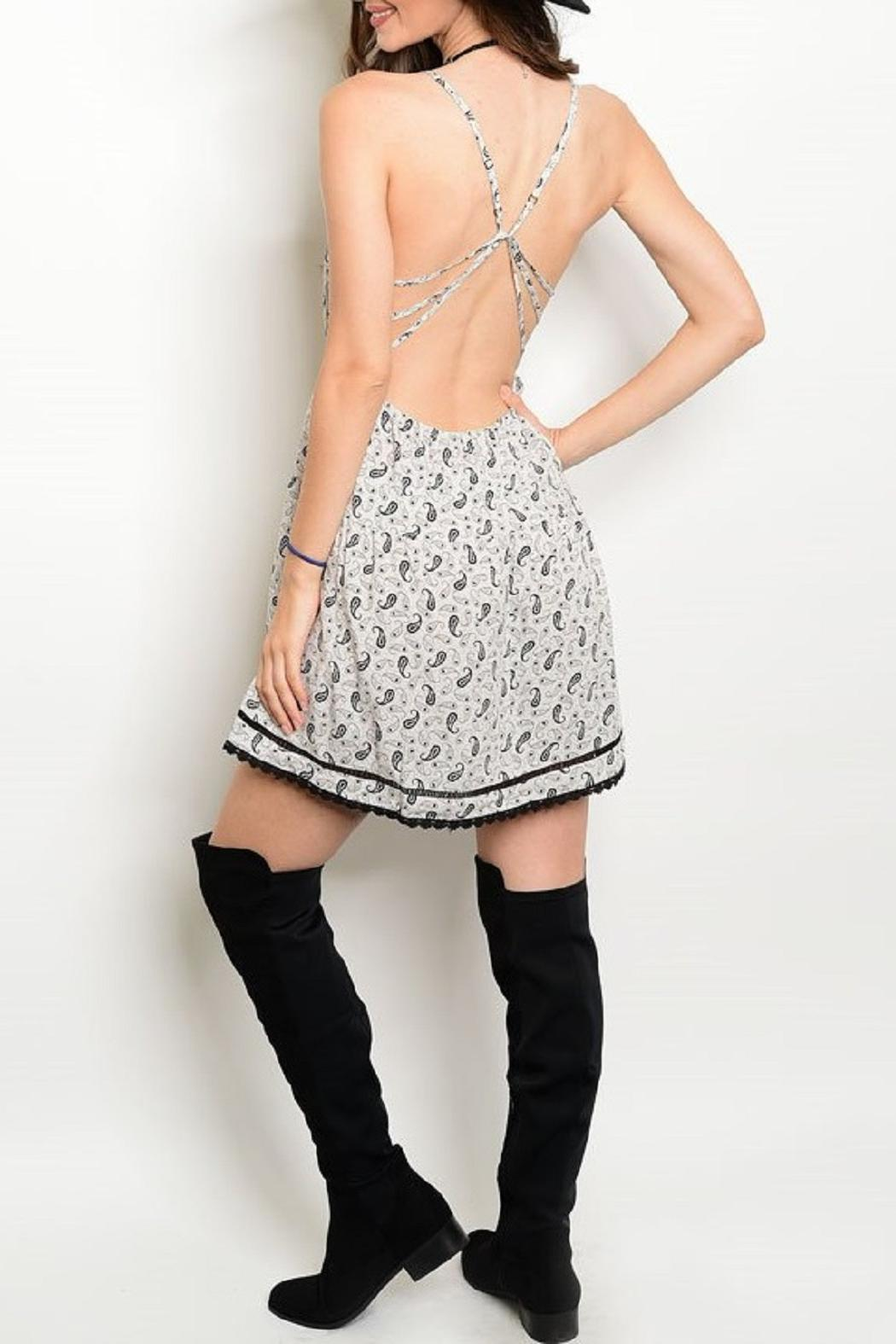 Adore Clothes & More Gray/black Paisley Dress - Front Full Image