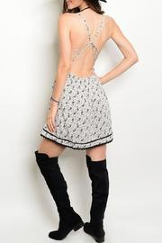 Adore Clothes & More Gray/black Paisley Dress - Front full body
