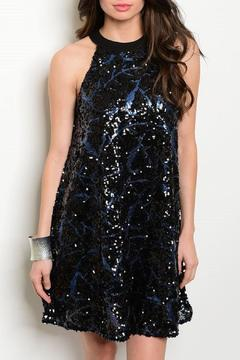 Adore Clothes & More High/neck Sequin Dress - Product List Image