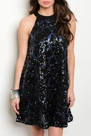 Adore Clothes & More High/neck Sequin Dress - Front cropped