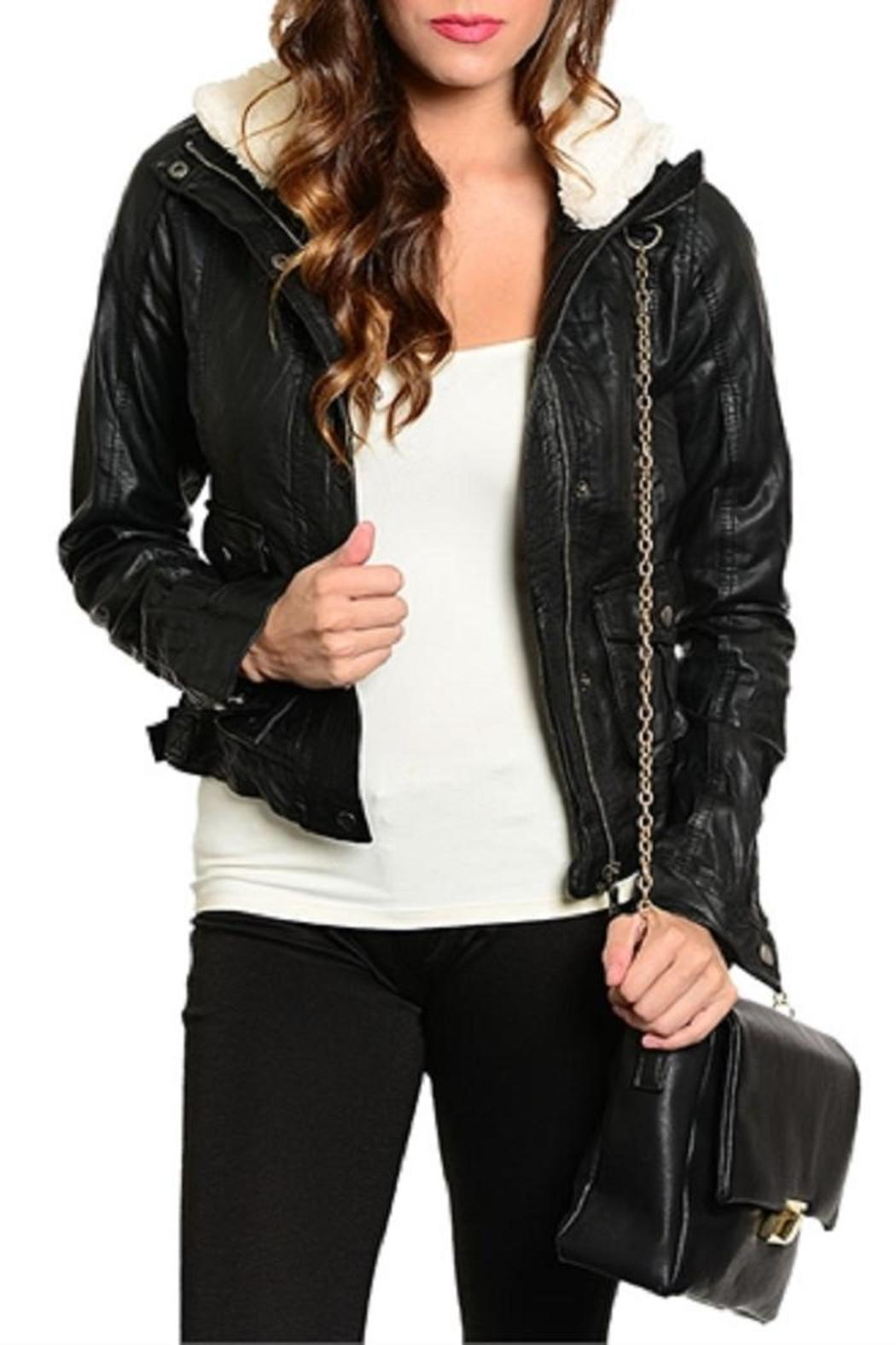 Adore Clothes & More Faux Leather Jacket - Front Cropped Image