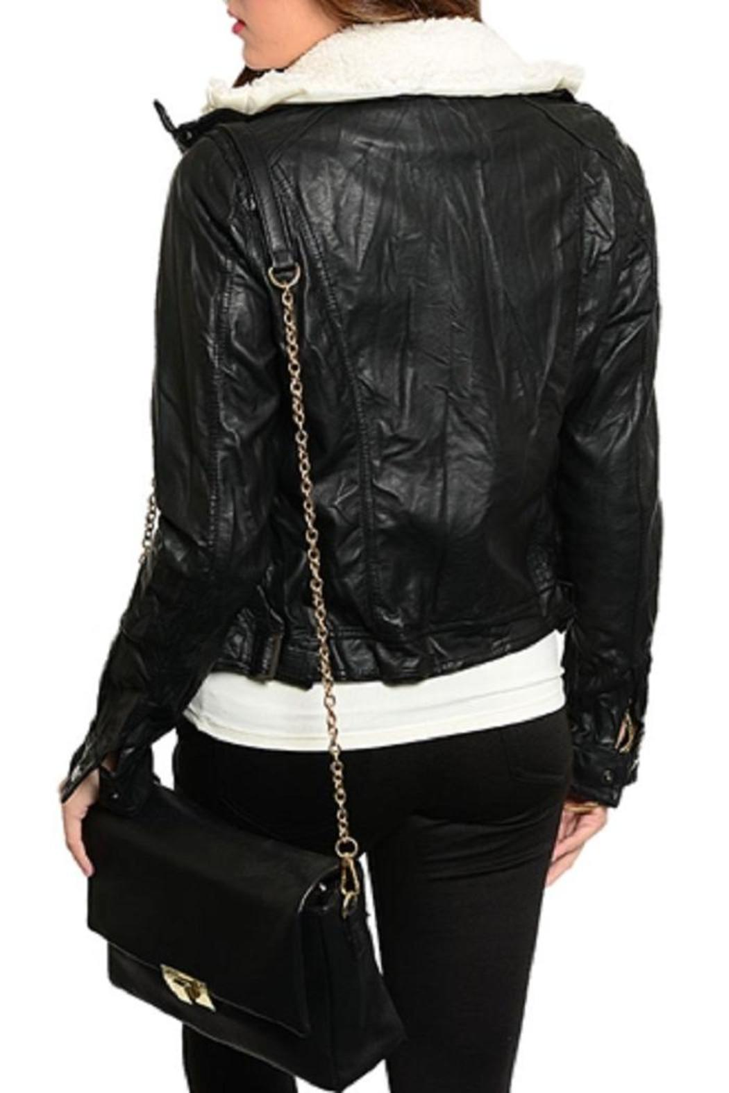 Adore Clothes & More Faux Leather Jacket - Front Full Image