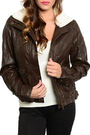 Adore Clothes & More Faux Leather Jacket - Front cropped
