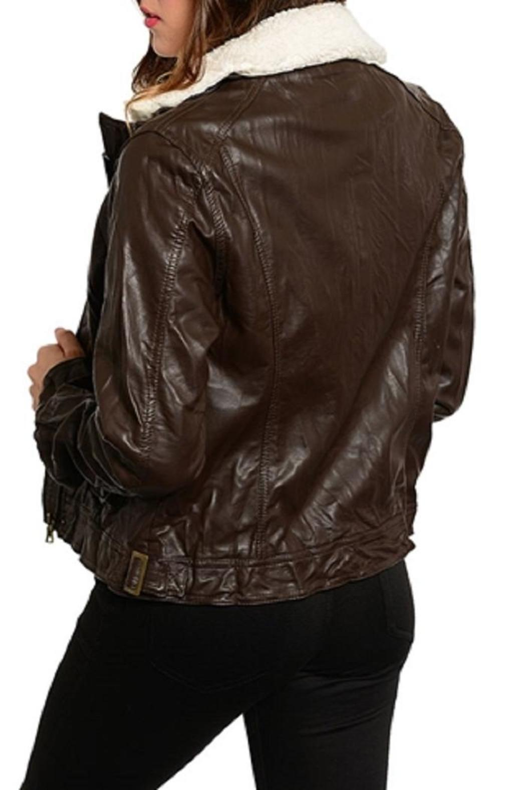 Adore Clothes & More Faux Leather Jacket - Side Cropped Image