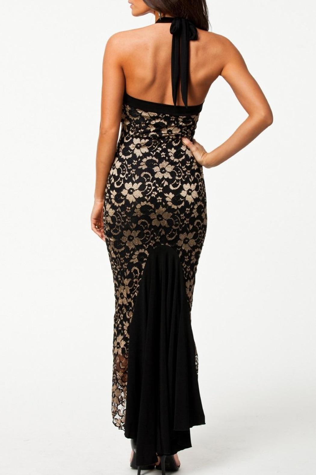 Adore Clothes & More Lace Long Dress - Back Cropped Image